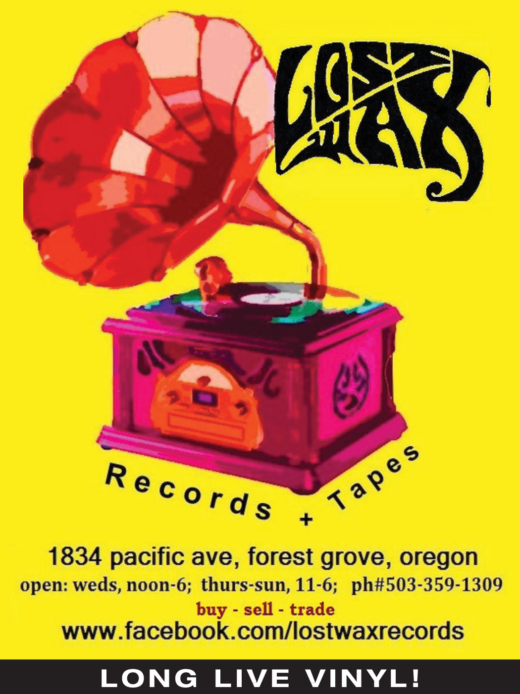 Used Vinyl Available in Forest Grove, OR, Music Store - Lost