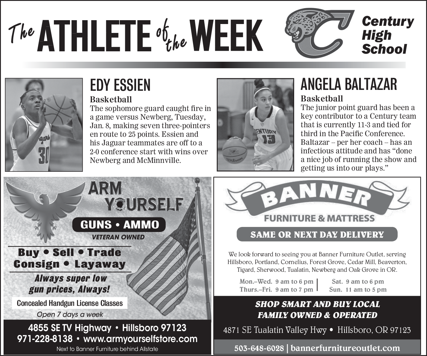 Athlete Of The Week In Hillsboro Or Furniture Banner And Mattress