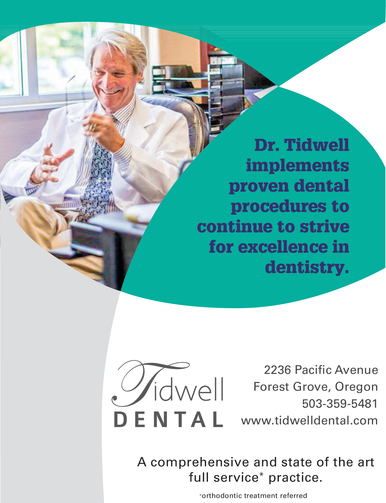 Full Dental Service Practice in Forest Grove, OR, Dental Care